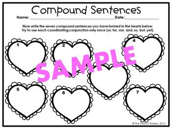 Forming Compound Sentences (Valentine's Day)
