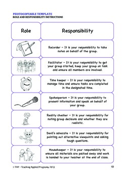 Forming Groups with Roles and Responsibilities