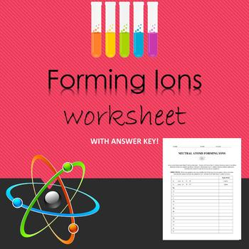 Forming Ions Worksheet with Answer Key