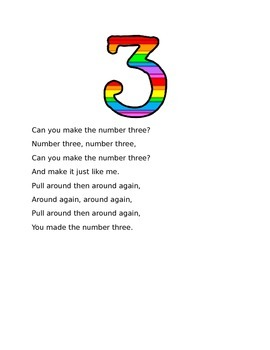 Forming Numbers 1-9 Song