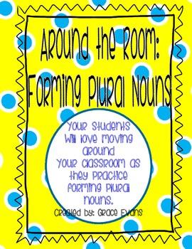 Plural Nouns: Around the Room Activity