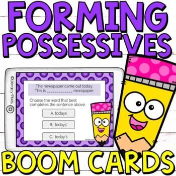 Forming Possessives Boom Cards (Digital Task Cards) for Grades 2-3