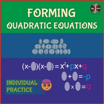 Forming Quadratic Equations (Factoring and Vieta's formulas) Individual Practice