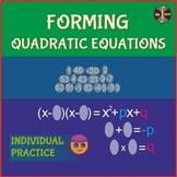 Forming Quadratic Equations (Vieta's formulas) - 4 version