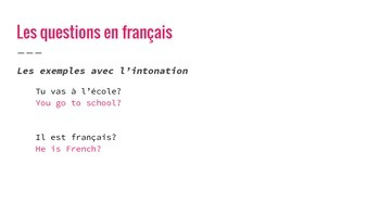 les Questions en Français