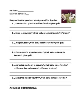 Forming Questions, Interrogative Words Spanish