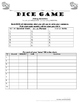Forming Questions Practice in Spanish, Dice Game