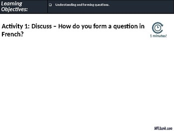 French - Forming Questions