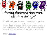 """Forming Questions that start with """"Can I/ Can You"""""""