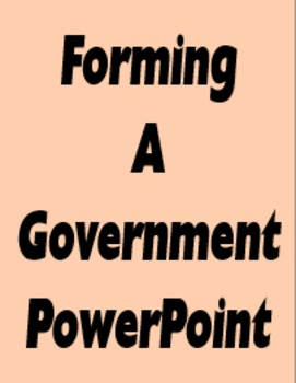 Forming a Government PowerPoint