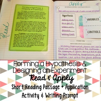 Hypothesis and Experiment Reading Comprehension Interactiv