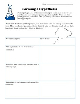Hypothesis Worksheets