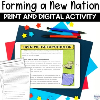 Forming a New Nation with the Constitution Nonfiction Article and Activity