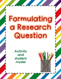 Forming a Research Question - Activity and Student Model