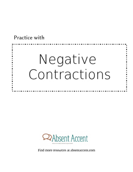 Forming and pronouncing negative contractions - adult ESL