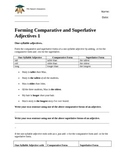 Forming comparative and superlative adjectives