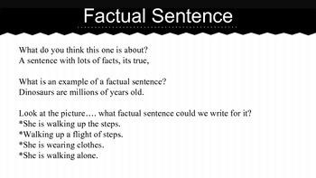 Forming sentences