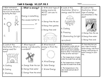 Forms Of Energy Test *Science Fusion Aligned*