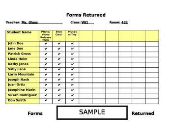 Forms Received Tracker