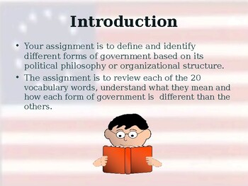 Forms & Systems of Government - Unit Vocabulary Exercise