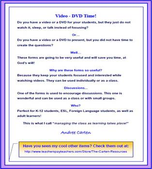 Video / DVD Time - Keeping your Students Focused!