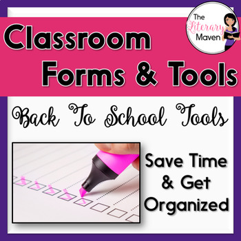 Forms and Tools for Classroom Organization Bundle