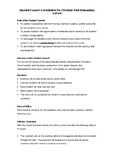 Forms and documents for creating a student council
