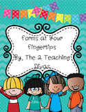 Forms at Your Fingertips! By The 2 Teaching Divas
