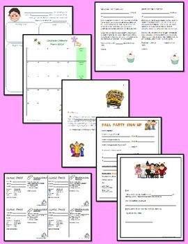 Forms for Back to School and Throughout the Year
