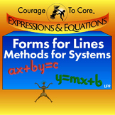 Forms for Lines and Methods for Systems (LF9): 8.EE.8, HSA.REI.C.6