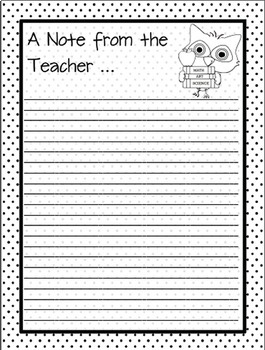 Forms for Pre-K Teachers