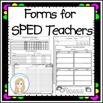 Forms for SPED Teachers