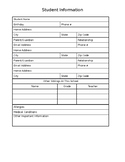 Forms for open house or orientation