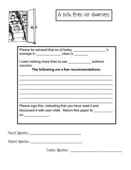 Forms for the Teacher - Positive Parent Communication