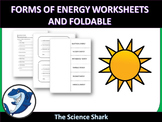 Forms of Energy Worksheets and Foldable