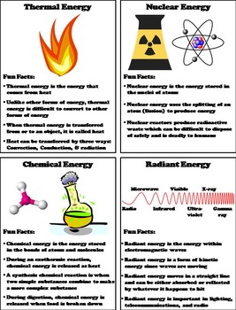 The Forms of Energy Foldable Interactive Notebook: Potential, Kinetic, Thermal..