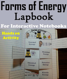 Forms of Energy Foldable: Sound and Light, Thermal, Potential and Kinetic etc.
