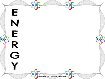 Forms of Energy Acrostic Poem Frames
