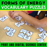 Forms of Energy Vocabulary Puzzles | Task Cards | Quiz | Digital Activity