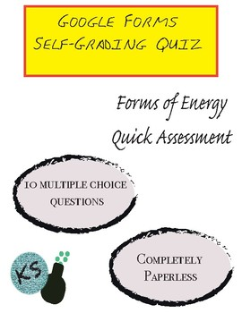 Forms of Energy Assessment