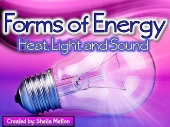 Forms of Energy BUNDLE! (Heat, Light, Sound) Real picture sorts, PowerPoint