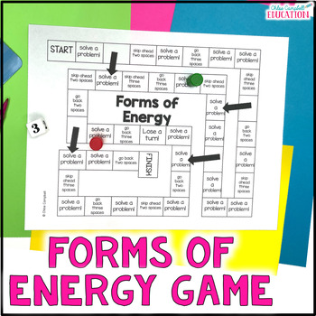 Forms of Energy Board Game SC.5.P.10.1