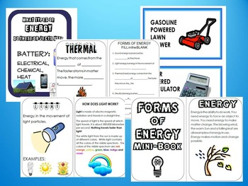 Forms of Energy Bundle: Examples,  Cut & Paste, Application, Energy Transfer
