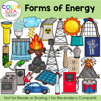Forms of Energy Clip Art