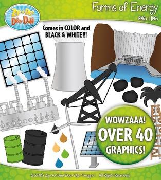 Forms of Energy Clipart {Zip-A-Dee-Doo-Dah Designs}