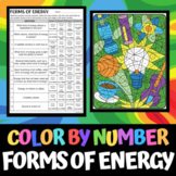 Forms of Energy - Color by Number