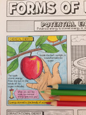 Forms of Energy Coloring Page with Crossword Puzzle and Gr
