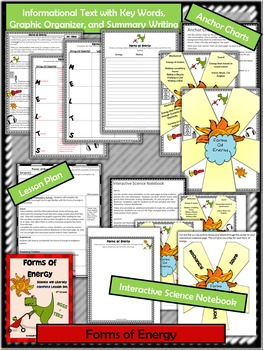 Forms of Energy:Complete Lesson Set Bundle (TEKS & NGSS)