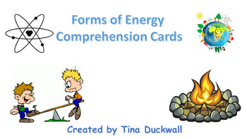 Forms of Energy Comprehension Question Cards