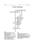 Forms of Energy Crossword